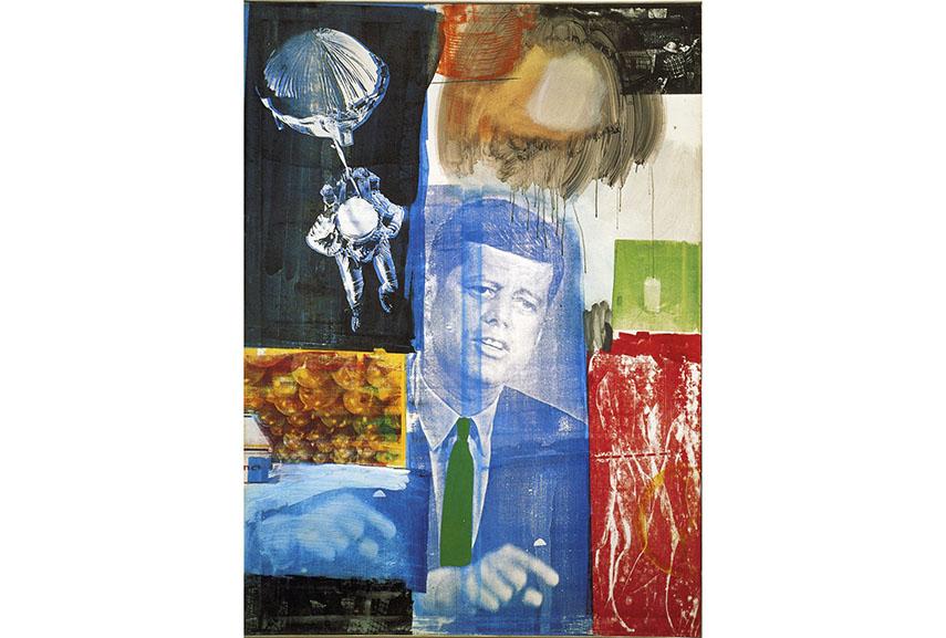 Robert Rauschenberg - Retroactive I, 1964 - Image via alchetroncom plate paper process