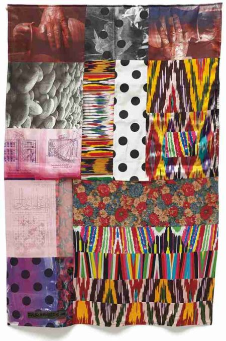 Robert Rauschenberg-Samarkand Stitches #IV, from Samarkand Stitches-1988
