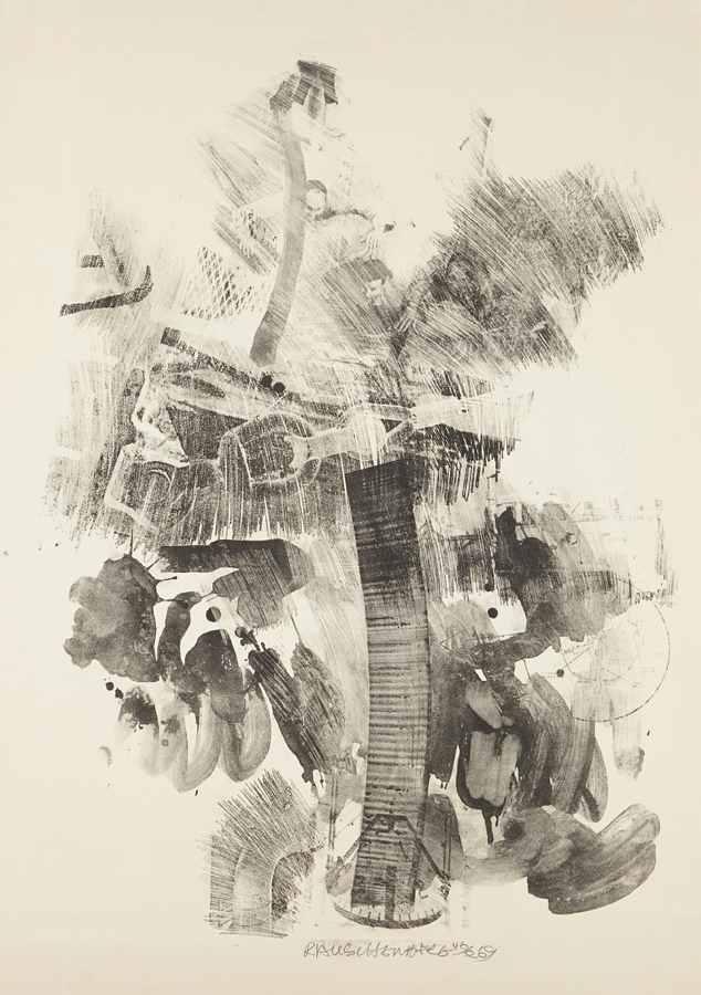 Robert Rauschenberg-Sky Hook, from Stoned Moon Series-1969
