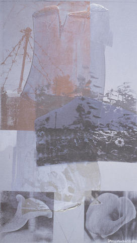 Robert Rauschenberg-Tanya's Veil (Whale)-1992