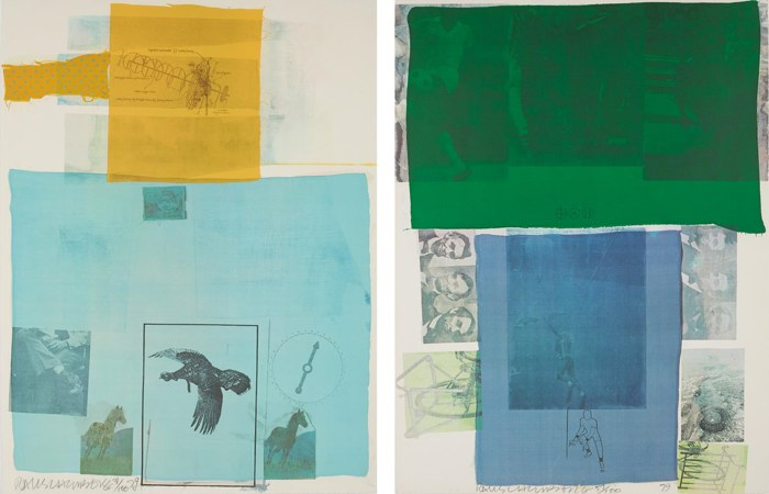 Robert Rauschenberg-Why You Can't Tell #1; and Shoot from the Main Stem, from The Suite of Nine Prints-1979