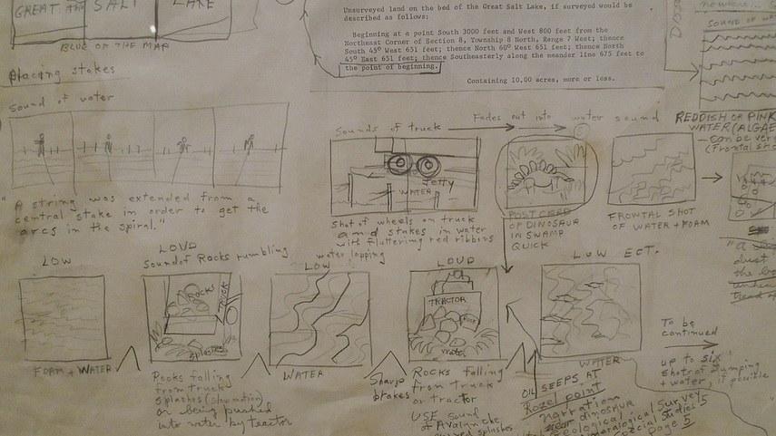 Smithson - The Spiral Jetty storyboard
