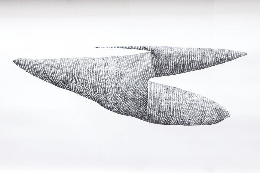 Roberto Ciredz 2016 - Void 1 - Graphite on arches paper 107x68cm