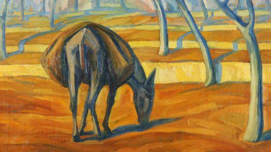 Roberto Marcello Iras Baldessari - Grazing Donkey in a Landscape (detail), 1923