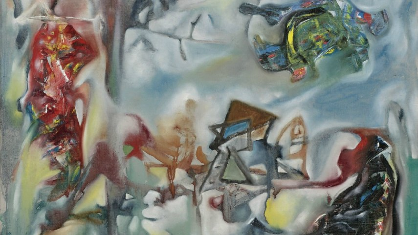 Chilean 2002 painting traveled from New York to Santiago, like a true member of surrealist works