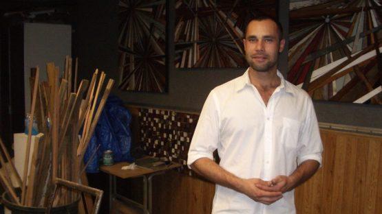 Roddy Wildeman in his studio - photo via rubyreusable