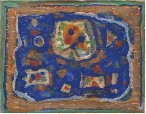 Roger Bissiere-Composition 67 (Tache Verte)-1953