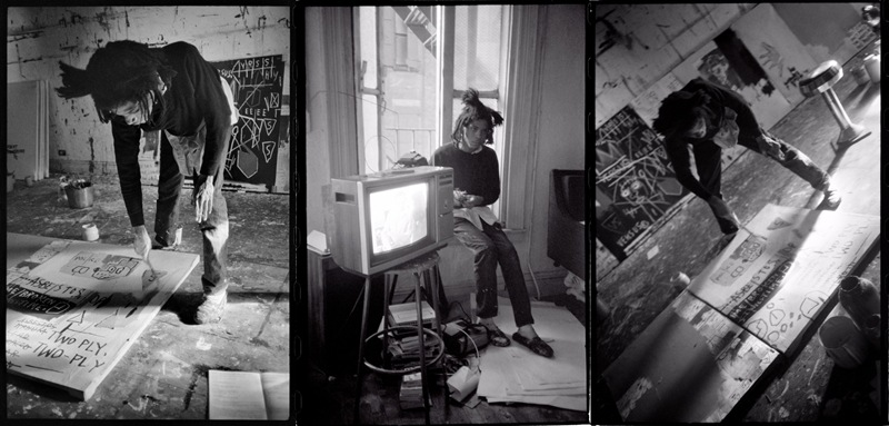 Roland Hagenberg - Basquiat in his Studio, 1983 - Photo Credits Roland Hagenberg