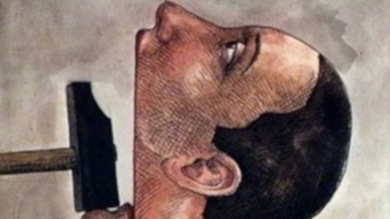 Roland Topor - Amnesty International, 1977 (detail)
