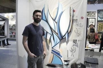 Live Performance at Urban Art Fair 2017 - Romain Froquet at Joel Knafo Art