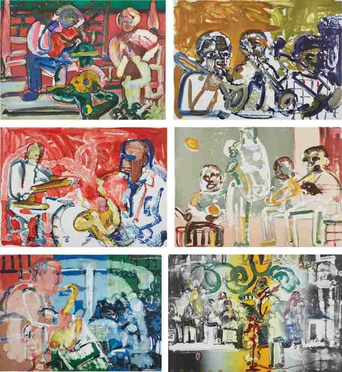 Romare Bearden-Jazz-1979