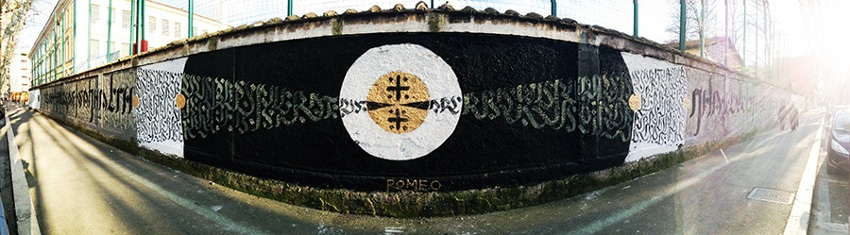 Romeo - wall in Via Galvani in Rome
