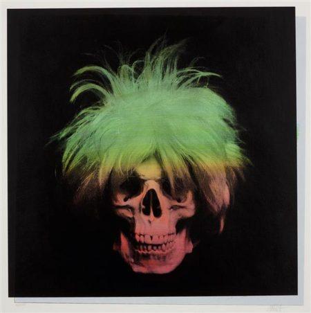 Ron English-Andy Wharol Skull-