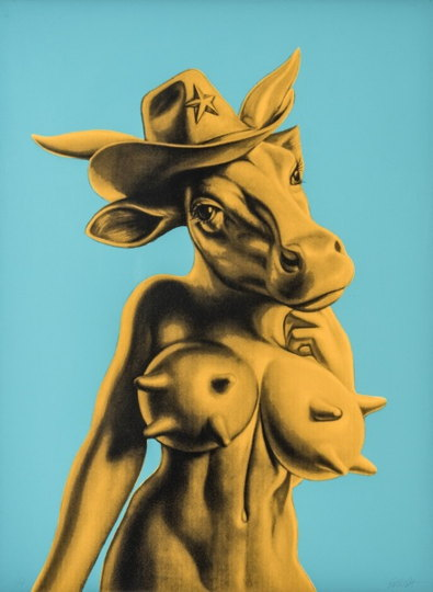 Ron English-Cow Girl-2010