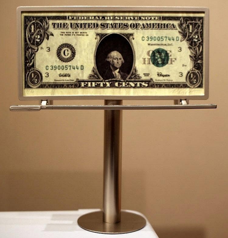 Ron English-Half Dollar Bill-