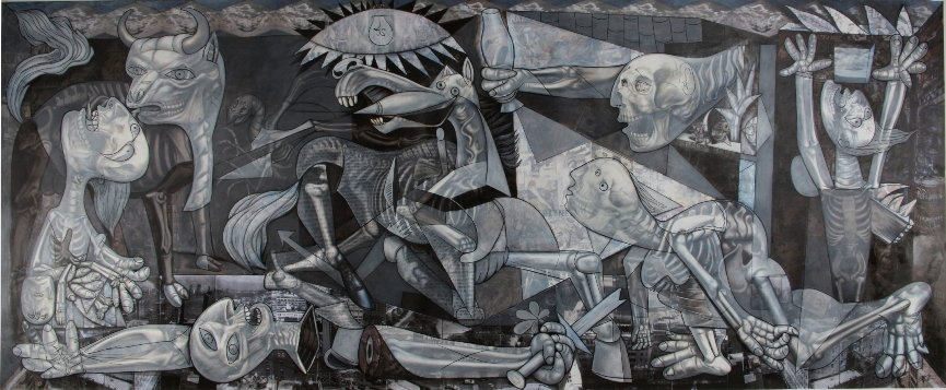 Why Ron English Paints Guernica Widewalls