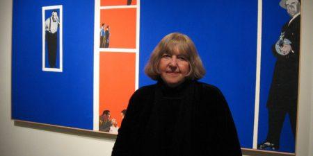 Rosalyn Drexler - Photo of the artist - Image via pinterest new york 1963 gallery 2017 canvas view gallery museum