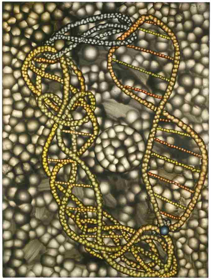 Ross Bleckner-Untitled (DNA)-2000