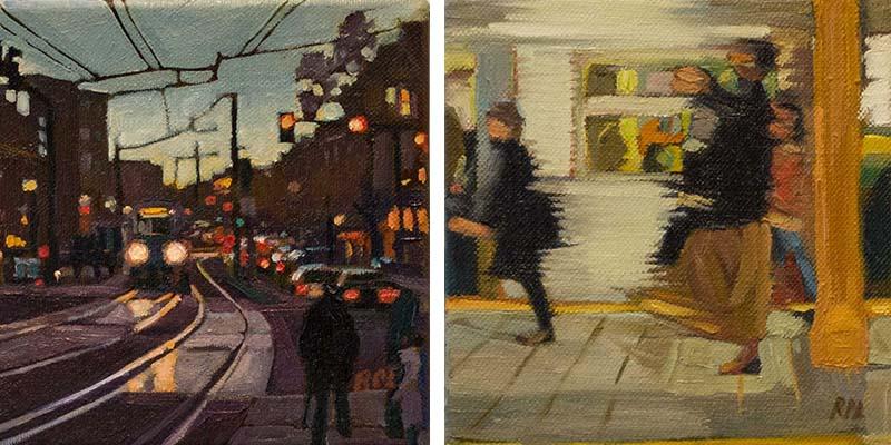 Roxann Poppe Leibenhaut - Coolidge Corner and Subway , 2013