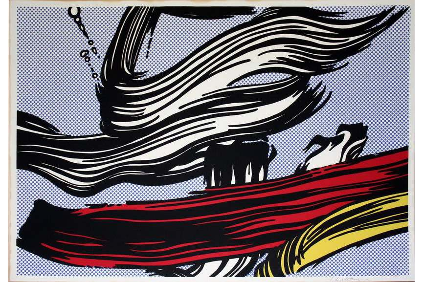 Roy Lichenstein - Brushstrokes