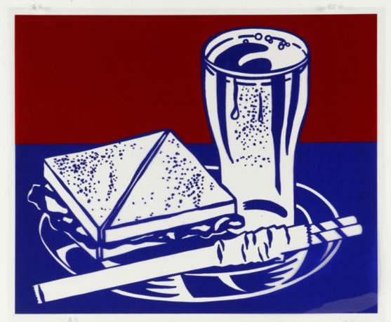 Roy Lichtenstein-Abstract (lunch scene)-