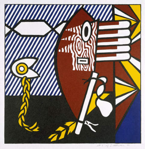 Roy Lichtenstein-American Indian Theme I-1980