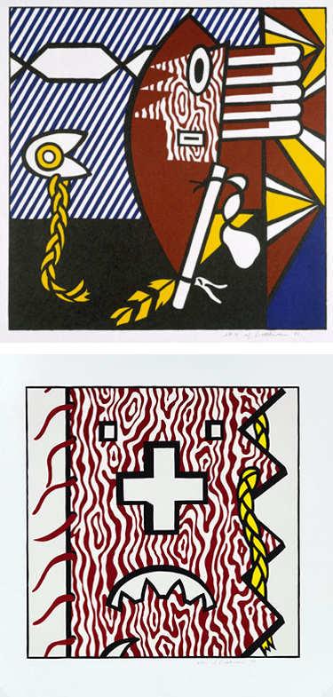 Roy Lichtenstein-American Indian Theme I; American Indian Theme IV-1980