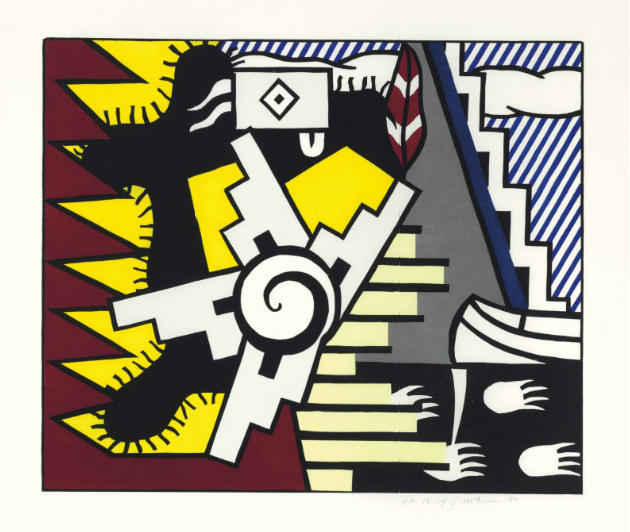 Roy Lichtenstein-American Indian Theme II, from American Indian Theme-1980