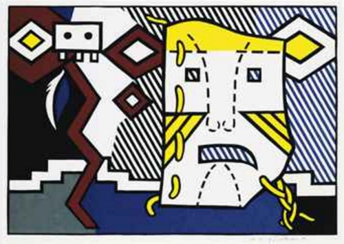 Roy Lichtenstein-American Indian Theme V-1980