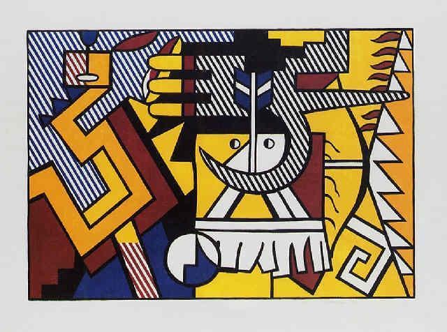 Roy Lichtenstein-American Indian Theme VI-1980