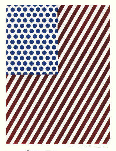 Roy Lichtenstein-Amerique, from La Nouvelle Chute de lAmerique-1992