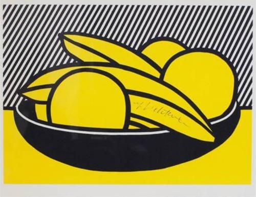 Roy Lichtenstein-Bananas and Grapefruit-