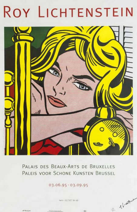 Roy Lichtenstein-Blonde Waiting (Exibition poster in Palais des Beaux-Arts de Bruxelles)-1995