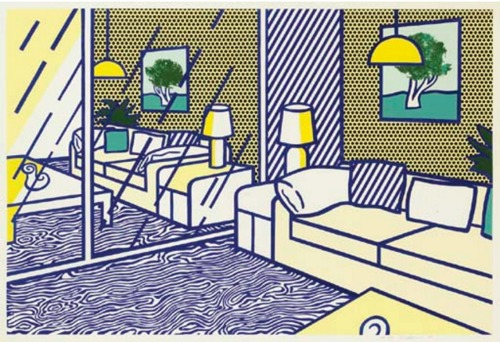 Roy Lichtenstein-Blue Floor, from Interior Series-1990