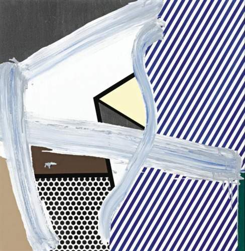 Roy Lichtenstein-Brush Stroke with Still Life VII-1996