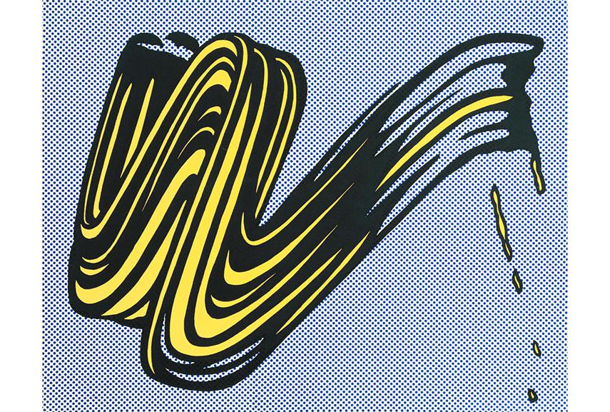 Roy Lichtenstein screen printed a series of paintings called Brushstroke