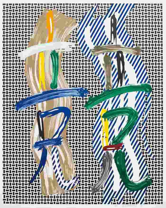 Roy Lichtenstein-Brushstroke Contest-1989