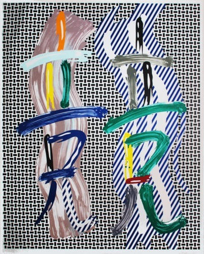 Roy Lichtenstein-Brushtroke Contest-1989