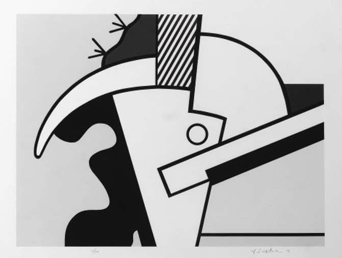 Roy Lichtenstein-Bull Head II; Bull Head III, from Bull Head Series-1973