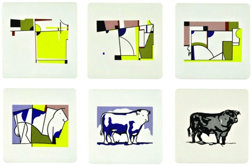 Roy Lichtenstein-Bull I-VI-1989