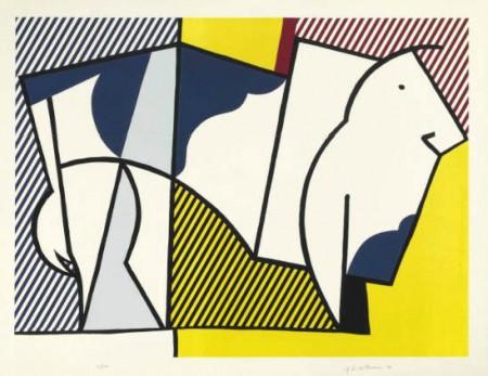 Roy Lichtenstein-Bull III, from Bull Profile Series-1973