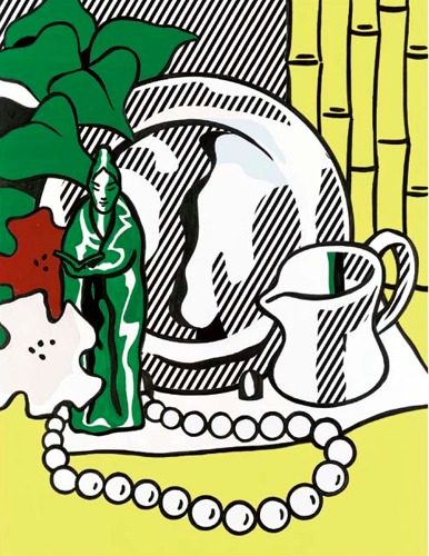 Roy Lichtenstein-Collage for Still Life with Figurine-1973