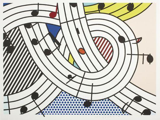 Roy Lichtenstein-Composition II-1996