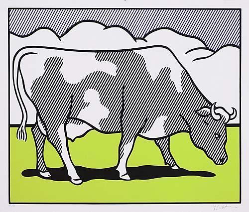 Roy Lichtenstein-Cow Going Abstract-1982