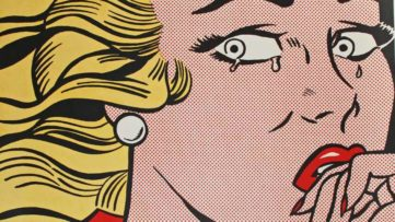 Roy Lichtenstein - Crying Girl - Image via georgetownframeshoppecom press press