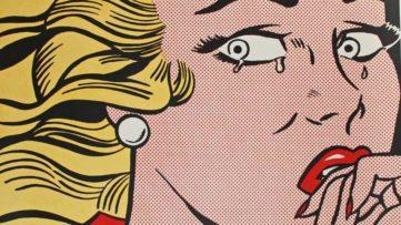 Roy Lichtenstein - Crying Girl - Image via georgetownframeshoppecom press press