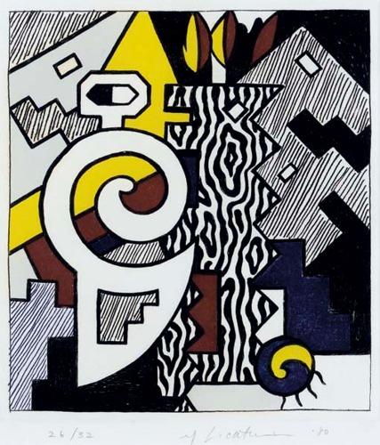 Roy Lichtenstein-Dancing Figures-1980