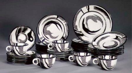 Roy Lichtenstein-Dinnerware: Five setttings-1966