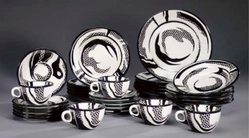 Roy Lichtenstein-Dinnerware: Five setttings-1966