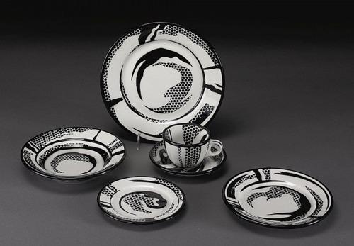Roy Lichtenstein-Dinnerware: Six Settings-1966